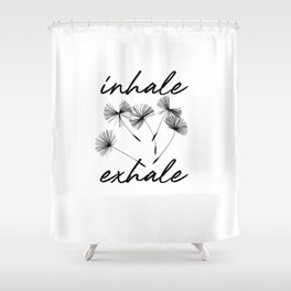 Inhale-exhale Shower Curtain