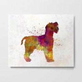 Welsh Terrier in watercolor Metal Print