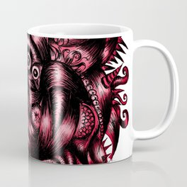 Spaceship Girl_Red Coffee Mug