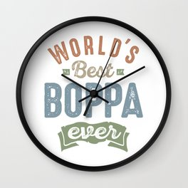 World's Best Boppa Wall Clock