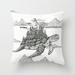 Turtle Kingdom Throw Pillow