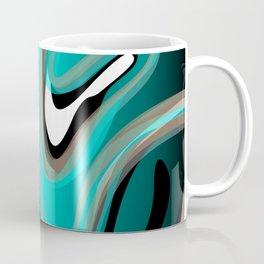 Liquify 2 - Brown, Turquoise, Teal, Black, White Coffee Mug