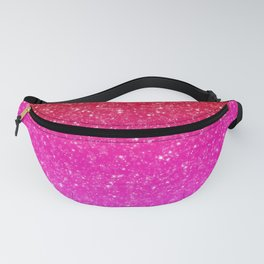 Red/Pink Glitter Gradient Fanny Pack