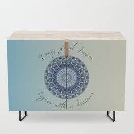 Inspirational quote - Every great dream begins with a dreamer  Credenza