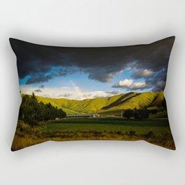 Rainbow Over Rolling Hills Rectangular Pillow