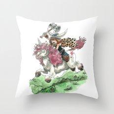 Barbarian Unicorn Throw Pillow