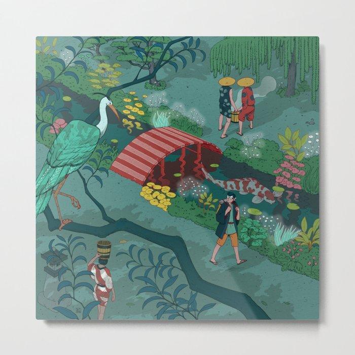 Ukiyo-e tale: The beginning of the trip Metal Print