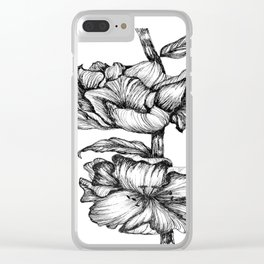 Floral Ink II Clear iPhone Case