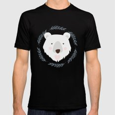 polar bear MEDIUM Mens Fitted Tee Black