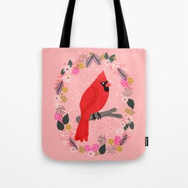 Northern Cardinal by Andrea Lauren  Tote Bag
