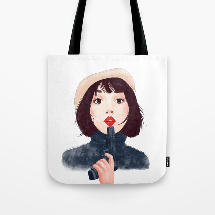 French woman with gun Tote Bag