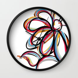 FLOWER COLORS Wall Clock