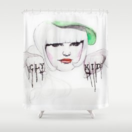 Ugly Kids Shower Curtain