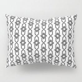 Japanese yukata geometric line pattern in grey Pillow Sham