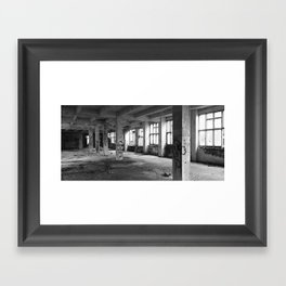abandoned architectural interior space Framed Art Print