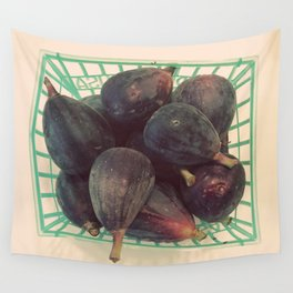 Figs in a Basket Color Photo Wall Tapestry