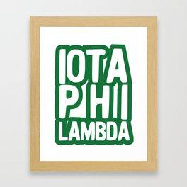Iota Phi Lambda Framed Art Print