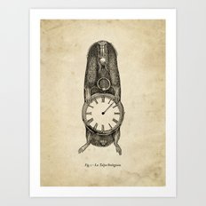 A Clockwork Mole Art Print