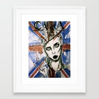uk Framed Art Prints featuring UK by Thomasine
