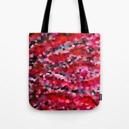 Mermaid Ruby Red Fish Tail Scales Tote Bag