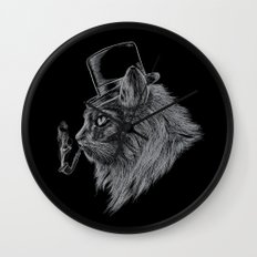 High Class Cat Wall Clock