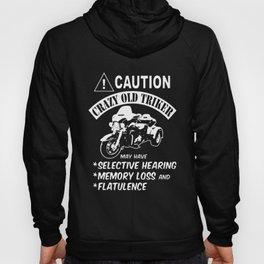 caution crazy old triker bike t-shirts Hoody