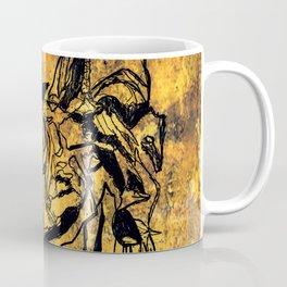 Crushed Skull Drawing Coffee Mug
