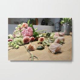 Kazakh Roses Metal Print
