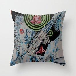 TechnoTrain Throw Pillow