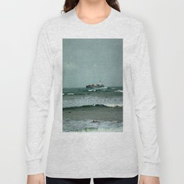 Leistering  Cargo Ship & Surfers Long Sleeve T-shirt