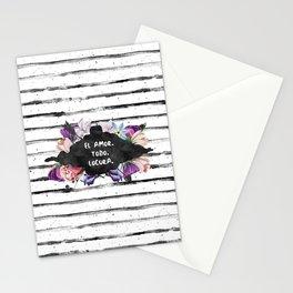El Amor. Todo. Locura Stationery Cards