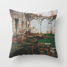 Ruins of Culross Throw Pillow