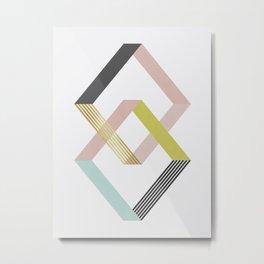 Geometric pattern and fashion II Metal Print