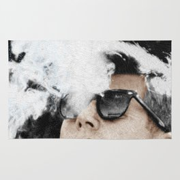 John F Kennedy Cigar And Sunglasses Rug