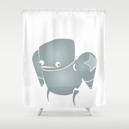 minima - slowbot 001 Shower Curtain