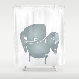 minima - slowbot 001 Shower Curtain