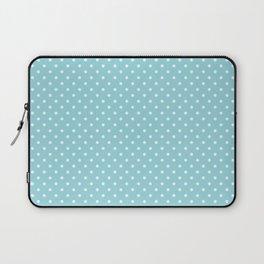 Mini Sky Blue with White Polka Dots Laptop Sleeve
