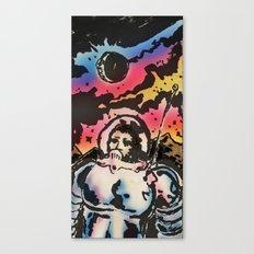 space suit & moon walk  Canvas Print