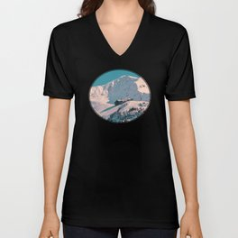Mt. Alyeska Ski Resort - Alaska Unisex V-Neck
