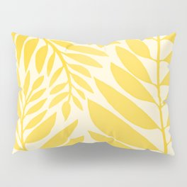 Golden Yellow Leaves Pillow Sham