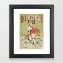 Rabbits Biker Club Framed Art Print
