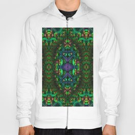 Psychedelic - Forest - Fractal - Manafold Art Hoody