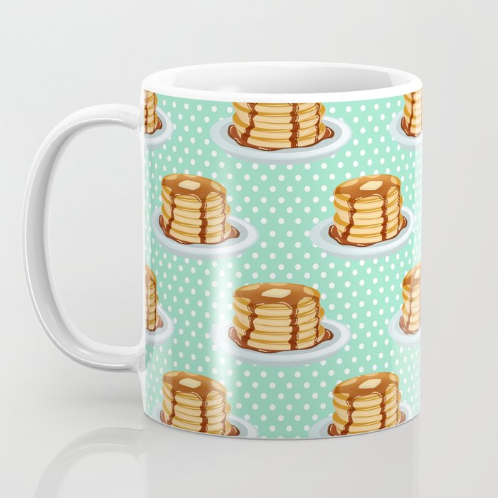 Pancakes & Dots Pattern Coffee Mug