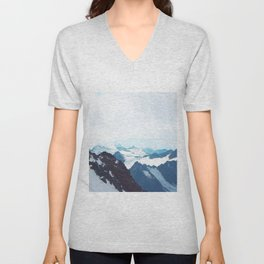 No limits - mountain print Unisex V-Neck