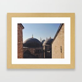Out The Window Of Ayasofya Framed Art Print