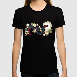 Snake and flowers 2 T-shirt