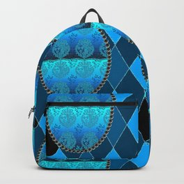 FDL BLUE Holiday Pattern Backpack