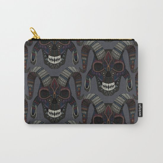 demon skull charcoal Carry-All Pouch