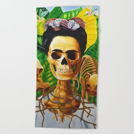 Frida vive Beach Towel