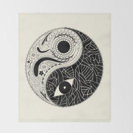 Yin & Yang - [collaborative art with Magdalla del Fresto] Throw Blanket